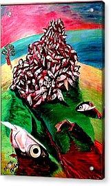 Allegory On Russia Acrylic Print by Vladimir A Shvartsman