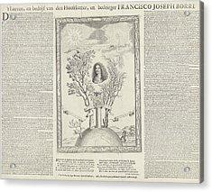 Allegory With The Portrait Of Gioseppe Francesco Borri Acrylic Print