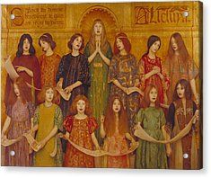Acrylic Print featuring the painting Alleluia by Thomas Cooper Gotch