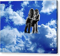 Acrylic Print featuring the photograph Allen And Steve In Clouds by Ben Upham