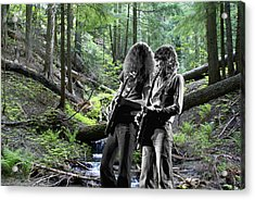 Acrylic Print featuring the photograph Allen And Steve On Mt. Spokane 2 by Ben Upham