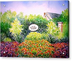 Allen Gardens Acrylic Print by Thomas Kuchenbecker