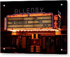 Allenby Theatre 1215 Danforth Acrylic Print