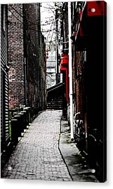 Alley Acrylic Print by Allan Millora