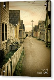 Alley And Abandoned Houses Acrylic Print by Jill Battaglia