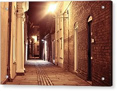 Alley At Night Acrylic Print by Tom Gowanlock