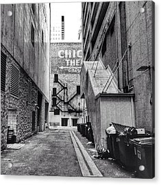 Alley By The Chicago Theatre #chicago Acrylic Print
