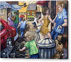 Alley Catz Acrylic Print by Gail Butler