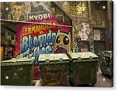 Alley Graffiti Acrylic Print by Stuart Litoff