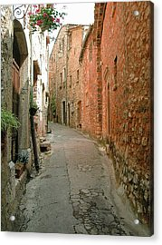 Alley In Tourrette-sur-loup Acrylic Print