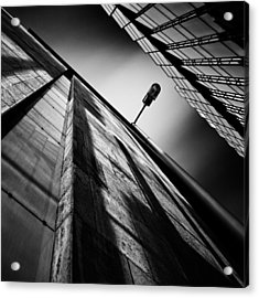 Alley Lamp Acrylic Print by Dave Bowman