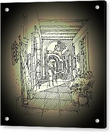 Alley Storefront Acrylic Print by Andrew Drozdowicz