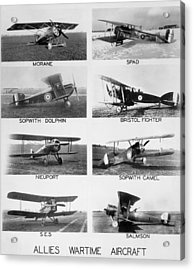 Allies World War I Aircraft Acrylic Print by Underwood Archives