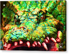 Alligator 20130702 Acrylic Print by Wingsdomain Art and Photography