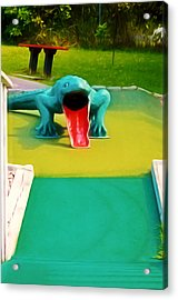 Alligator Acrylic Print by Lanjee Chee