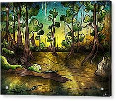 Alligator Swamp Acrylic Print