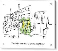 Alligators Riding The Subway Acrylic Print by Sidney Harris