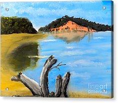 Allonah Beach Tasmania Acrylic Print by Pamela  Meredith