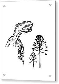 Allosaurus Acrylic Print by Richard Bizley