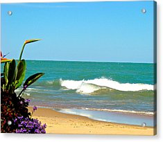 Allow Yourself To Imagine At A Beach Acrylic Print