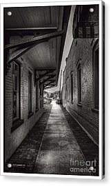 Alley To The Trains Acrylic Print by Marvin Spates