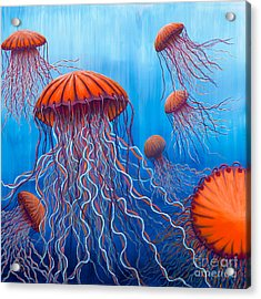 Ally's Orange Jellies Acrylic Print by Rebecca Parker