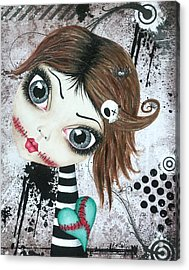 Almost A Ghost Acrylic Print by Oddball Art Co by Lizzy Love