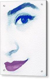 Almost Blue Acrylic Print