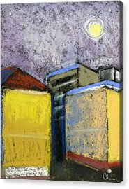 Almost Full Moon Acrylic Print by Lelia Sorokina