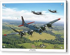 Almost Home  B-17 Flying Fortress Acrylic Print by Mark Karvon