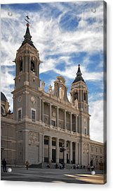 Almudena Cathedral Acrylic Print by Joan Carroll