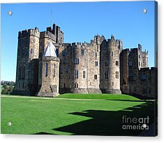 Acrylic Print featuring the photograph Alnwick Castle Castle Alnwick Northumberland by Paul Fearn