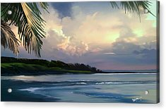 Acrylic Print featuring the digital art Aloha by Anthony Fishburne