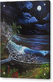 Acrylic Print featuring the painting Aloha Luna by Kevin F Heuman