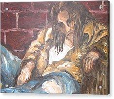 Alone Acrylic Print by Cheryl Pettigrew