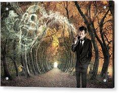 Alone Acrylic Print by Christophe Kiciak