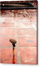 Alone In The Rain Acrylic Print by Michal Bednarek
