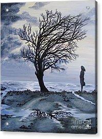 Alone Acrylic Print by Lisa Golem
