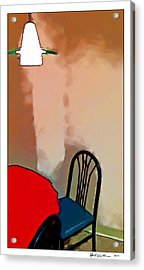 Alone Table Light Acrylic Print by Robert Smith