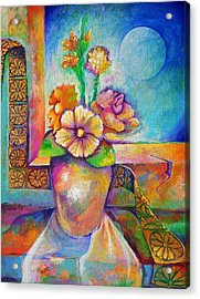 Alone With The Last Remaining Flowers Acrylic Print