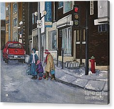Along The Boulevard Acrylic Print by Reb Frost