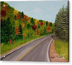 Along The Cabot Trail Acrylic Print