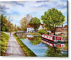 Along The Canal Acrylic Print by Andrew Read