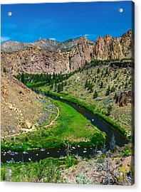 Along The Crooked River Acrylic Print