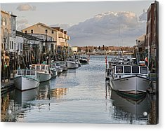 Acrylic Print featuring the photograph Along The Docks by Richard Bean