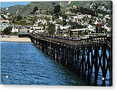 Acrylic Print featuring the photograph Along The Pier by Michael Gordon