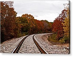 Along The Rails Acrylic Print by Julie Clements