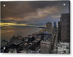 Along The Seattle Waterfront Acrylic Print