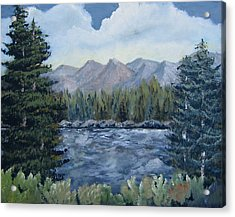 Acrylic Print featuring the painting Along The Way by Suzanne Theis