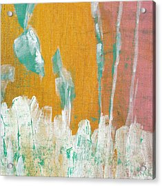 Acrylic Print featuring the painting Along The White Picket Fence C2013 by Paul Ashby